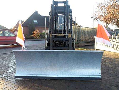 Schneeschild verzinkt 150cm Gabelstapler verstellbar Schneeschieber Räumschild