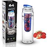 Botella de Agua Elite Infuser – 28 oz – Hecho con Calidad Comercial Tritan – INCLUYE Ebook de Recetas (azul)