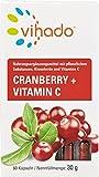Vihado Cranberry Kapseln hochdosiert + Cranberries + Vitamin C + Acerola + Kieselerde, 60 Kapseln, 1er Pack (1 x 30 g)