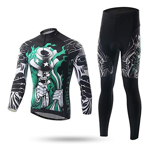 XINTOWN Herren Fahrradtrikot Fahrradbekleidung Männer Kurzarm Radtrikot Jersey mit Elastische Atmungsaktive Schnell Xingheng Lange Ärmel Outfit (7,XXL)