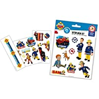 Fireman Sam TrendyMaker Skin Tattoo Set - 3 Sheets with 15 Stickers, Stickers for Skin