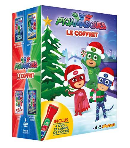 PYJAMASQUES Coffret 2019 Volumes 1 à 4 Saison 1 + en Cadeau Une Lampe Magique