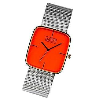 Eton 2920J orange – Reloj para mujeres, correa de metal color plateado