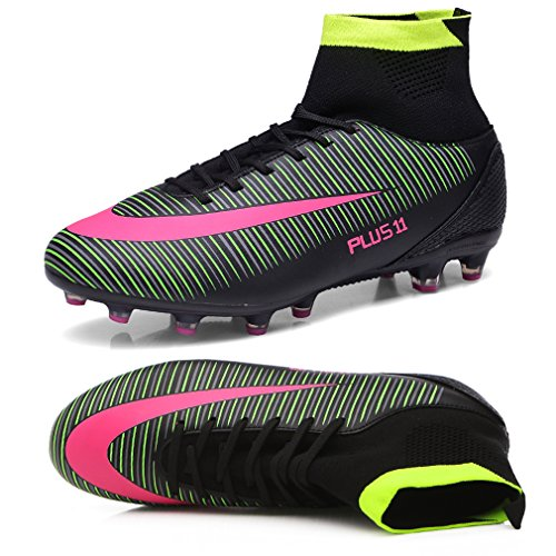 885f08a86 ZIITOP Kids Football Boots Unisex High Top Soccer Shoes Boys Professional  Spike Training Shoes Outdoor Sneakers Teenagers Sports Boots - Buy Online  in KSA.