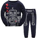 Baby Pyjama Baumwolle Kleinkind Jungen Kinder Roboter Nachtwäsche Nachtwäsche Pyjamas Set 7 Jahre