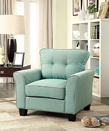 Möbel von Amerika cm6266bl-ch Claire blau Stoff Stuhl Accent Tische, 101cm H - Accent Stuhl