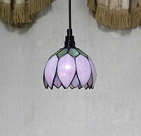 Ai Li wei8-inch Pastoral Rose Lotus pétales Tiffany Pendentif plafond Porche Lampe