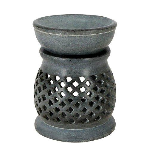 Schale Duft (Indische Dekorationsartikel Für Zuhause Handgemachte Lampen Kerze Teelichthalter Grau Seife Stein 3 Zoll)