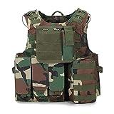 YANODA Chaleco Táctico Militar De Caza De Camuflaje Wargame Body Armor Chaleco De Caza Equipo SWAT Equipo De Selva Al Aire Libre Deporte (Color : PLA Camo)