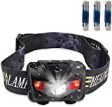 STCT Waterproof Red Light LED Head Torch, Light Weight High Adjustable Headlamp with Five Modes of Lighting for Reading, Outdoor Running, Camping, Backpacking, Fishing, Hunting, Climbing, Walking, Jogging (160LM, 3W, AAA Batteries Included)
