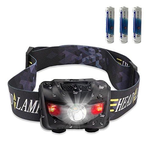STCT 3W LED Stirnlampe Kopflampe, Wasserdicht leicht bequem, 3 Leuchtmodi, LED Stirnlampe, Kopflampe zum joggen, spazieren gehen mit dem Hund, campen, klettern, fischen, Radfahren, lesen im dunkeln, DIY Arbeiten von Street Cat (black)