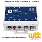 MODULATORE AUDIO VIDEO TV RF SKY TELECAMERE - MODULATORE STEREO RCA DISPLAY 90d