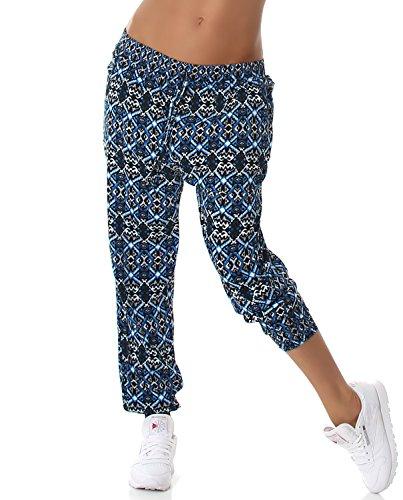 Enzoria Damen Sommerhose lang mit Eingrifftaschen in verschiedenen Designvarianten, hellblau Größe 36 38 40