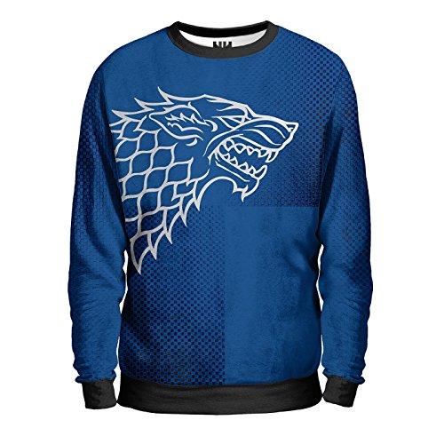 STARK'S HOUSE - CASATA TRONO DI SPADE Sweatshirt Man - Felpa Uomo - Baratheon Stark Lannister Arryn Tyrell Greyjoy Martell Targaryen, George Martin Game of Thrones T-Shirt Jon Snow