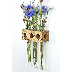 Fenstervase Buche gestockt 3er Blumenvase Test Tube Vase Flower Vase
