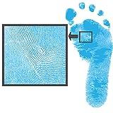 Set für Fußabdruck & Handabdruck | farbig | für jedes Alter nur auf Spezialpapier | Dactek (hellblau)
