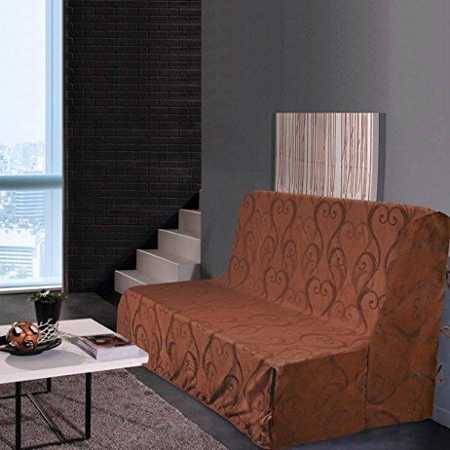 Best Interior Housse de clic clac Amour - Chocolat - Dimensions : 200x200cm