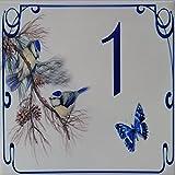 Azul'Decor35 Keramik Hausnummer - Wählen Sie Ihre Nummer und die Größe Ihrer Straßenschild!