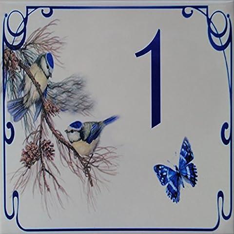Faience Azul - Plaque Numéro de Maison en faience –
