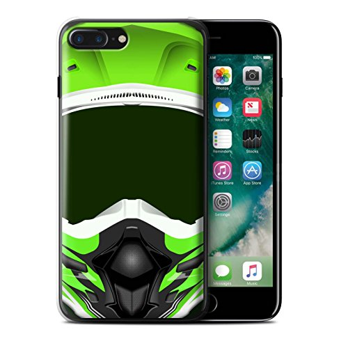 Stuff4 Hülle / Hülle für Apple iPhone 6S / Motocross/Grün Muster / Motorradhelm Kollektion Motocross/Grün
