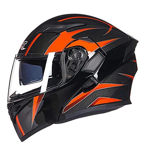 Outdoor-Lokomotive Helm Mode Druck Fog Proof ABS Vollgesichts Racing Helm , black , xl