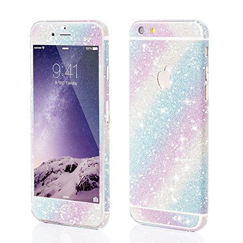 VAPIAO Glitzerfolie Skin Protector Schutzfolie für Apple iPhone 6, 6s in Regenbogen