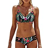 OIKAY Bikini Oberteil Push Up Bikini Damen Bohemia Push-Up Gepolsterter BH-Bikini-Set Badeanzug Bademode Bikini Bandeau