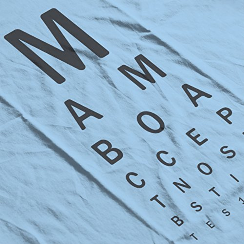 Mambo Eye Test Womens Sweatshirt Sky Blue