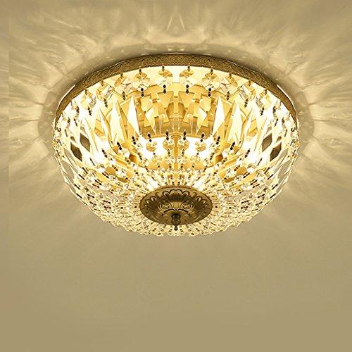 Deckenleuchte LXF Moderne LED Land Licht Runde Retro Gang Wohnzimmer Esszimmer Licht Kristall E14 (Size : 45 * 20cm) -
