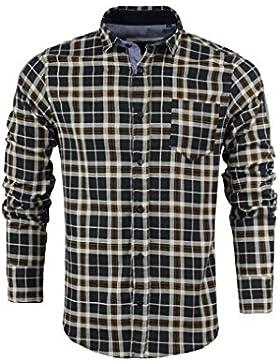 Brave Soul da uomo a maniche lunghe in flanella di cotone check Lumberjack S-XL
