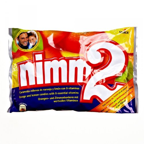 Preisvergleich Produktbild nimm2 – Kleine Süßigkeiten-Bonbons mit flüssigem Kern aus Fruchtsaft und reichhaltigen Vitaminen für Kinder und Erwachsene – (2 x 1kg Beutel)