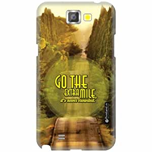Printland Designer Back Cover for Samsung Galaxy Note 2 N7100 - Go A Mile Case Cover