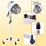 Costway Hair Dryer Hood Portable Salon Hairdryer Stand Professional Hairdresser Floor White