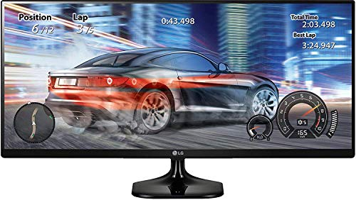 LG 25 inch 21:9 Ultrawide Gaming Monitor - Full HD, IPS Panel with, HDMI, Audio Out, Heaphone Ports - 25UM58 (Black)