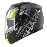 Shark Motorradhelm Serie Speed R 2 Tizzi Mat KYW, schwarz/gelb, Größe S