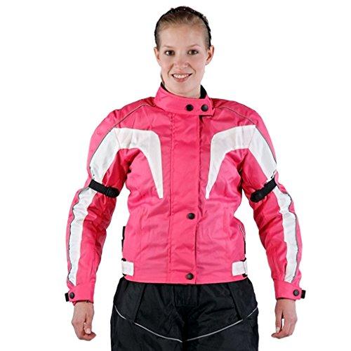 Lemoko Damen Textil Motorradjacke pink Gr XL