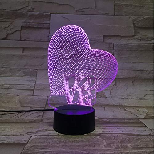 Hochzeit Valentines Geschenk Liebe Herz 3D Lava Lampe 7 Farbwechsel Led Nachtlicht Stimmung Dekor Geschenk Schlafzimmer Tischlampe