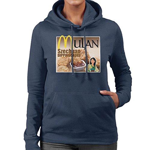 Mulan Chicken Nuggets Szechaun Dipping Sauce Rick And Morty Women's Hooded Sweatshirt Navy Blue