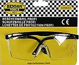 BENSON Schutzbrille Arbeitsbrille klar kratzfest intregiertem Seitenschutz