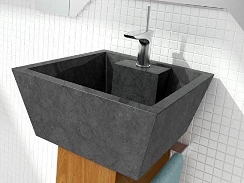 Bathco – Lavabo Bathco Sobre Encimera Piedra Rodas Negro 450X450X200