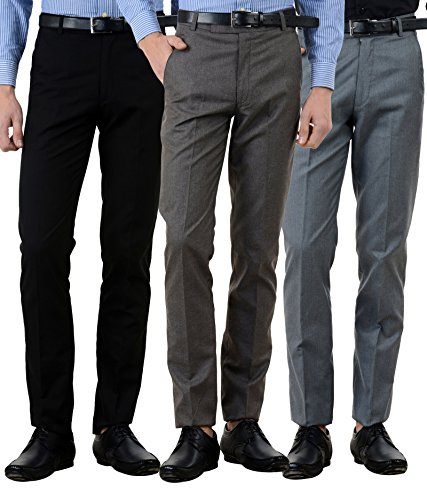 American-Elm-Mens-Cotton-Formal-Trousers-Pack-of-3