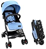 Best Car Seat Strollers - Luvlap Cruze Stroller Pram with Compact Tri-fold, Blue Review