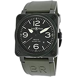 NEW BELL & ROSS BR03-92 AUTOMATIC WATCH BR03-92-MILITARY
