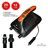SKINFOX SUPER Electric AIR Pump 0,5 bis 20 PSI SUP Paddelboard Pumpe aufblasbares Boot 2-stufig mit Kompressor