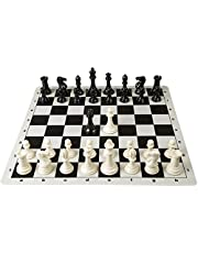 Klapp Plastic Roll on Chess Board Game, 18-inch (White and Black)