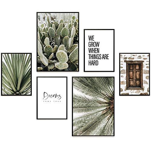 Heimlich® Premium Poster Set   Stilvolles Set mit passenden Bilder als Wohnzimmer Deko   2 x DIN A3 & 4 x DIN A4 - ca. 30x40 & 20x30   Auch mit Bilderrahmen » Dreams Come True «