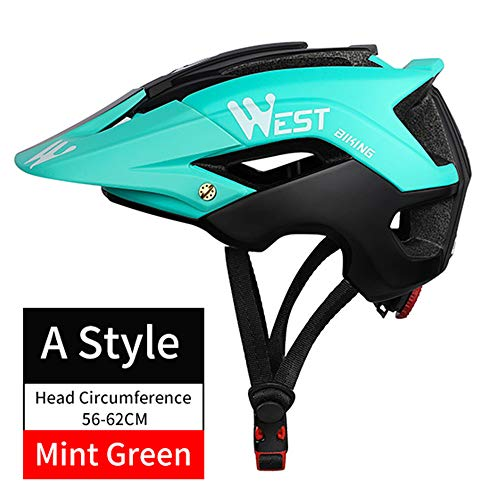 MOSILE FahrradhelmGelände-Mountainbike-Helm 56-62 cm Stil Mint Grün