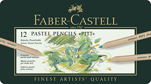 Faber-Castell – Estuche de metal con ecolápices Pitt pastel