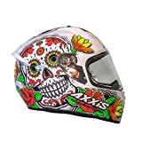 Casco Axxis STINGER DAYDEAD Blanco mexican skull calaveras mexicanas calaveras mejicanas (M)