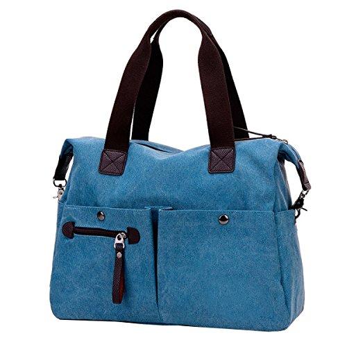 LAIDAYE Damen Große Tasche Große Kapazität Tasche Schultertasche Kurze Reisetasche Messenger Bag Damen Handtasche 2
